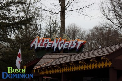 Alpengeist sign moved up due to new locker structure.