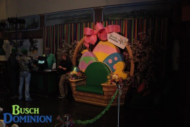 New Easter Bunny location inside Das Festhaus, which means no more Bunny Trail!