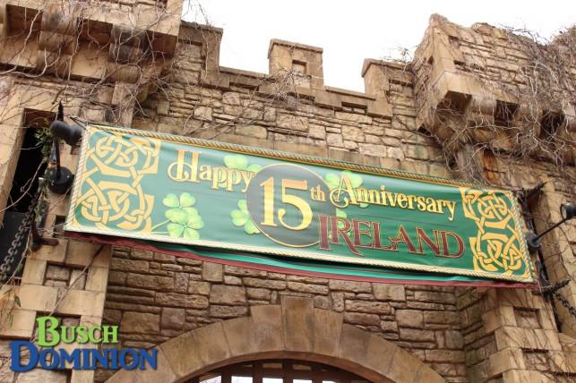 Killarney's 15th Anniversary sign
