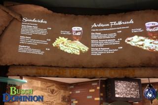 Stone Hearth Oven menu.