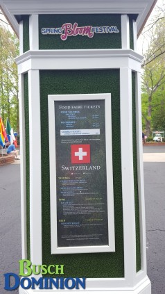 Switzerland menu