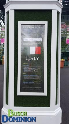 Italy menu